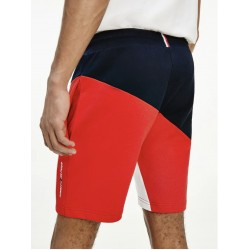 SHORT DE SPORT COLOUR-BLOCK EN COTON BOUCLÉ